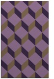 rug #597681 |  purple retro rug