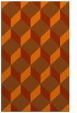 rug #597705 |  red-orange retro rug