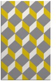 rug #597749 |  yellow retro rug
