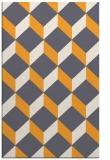 rug #597797    light-orange retro rug