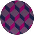 rug #597829 | round pink retro rug