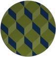 rug #597837 | round green popular rug