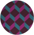 rug #597865 | round pink retro rug