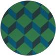 rug #597881 | round blue retro rug