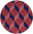 rug #597893 | round pink rug