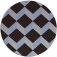 rug #597913   round blue-violet retro rug