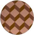 rug #597945 | round brown retro rug