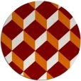 rug #597993 | round orange popular rug