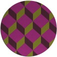 rug #598029 | round purple retro rug
