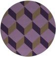 rug #598033 | round purple rug