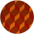 rug #598045 | round red popular rug
