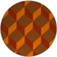 rug #598057   round red-orange retro rug