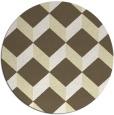 rug #598093 | round yellow retro rug
