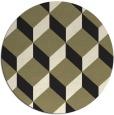 rug #598109 | round black retro rug