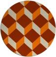 rug #598117 | round orange retro rug