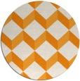 rug #598145 | round light-orange retro rug