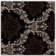 rug #598517 | square black damask rug