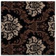 rug #598521   square black damask rug