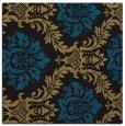 rug #598525 | square black damask rug