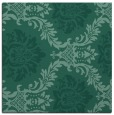rug #598561 | square blue-green damask rug