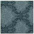 rug #598577 | square blue-green damask rug
