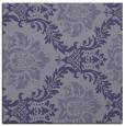 rug #598593 | square blue-violet damask rug