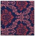 rug #598597 | square blue-violet damask rug