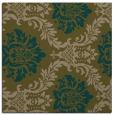 rug #598625 | square mid-brown damask rug