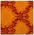rug #598693 | square orange damask rug