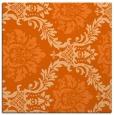 rug #598765 | square red-orange damask rug