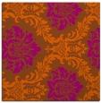 rug #598769   square red-orange damask rug
