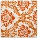 rug #598773 | square red-orange damask rug