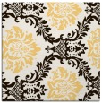 rug #598801   square brown damask rug