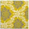 rug #598805   square yellow damask rug