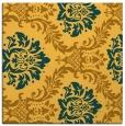 rug #598809 | square yellow damask rug