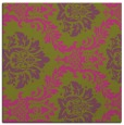 rug #598833 | square light-green damask rug