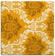 rug #598841 | square light-orange damask rug