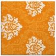 rug #598849 | square light-orange damask rug