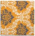 rug #598853 | square light-orange damask rug