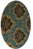 rug #598880   oval damask rug