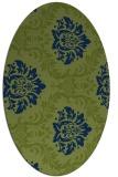 rug #598896 | oval damask rug