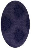 rug #598943 | oval damask rug