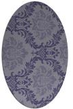 rug #598945 | oval blue-violet damask rug
