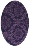 rug #598953 | oval purple damask rug
