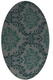 rug #598985 | oval green damask rug