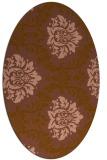 rug #599001   oval brown damask rug
