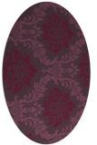 rug #599081 | oval purple damask rug