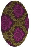 rug #599085 | oval damask rug