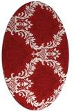 rug #599105   oval red damask rug