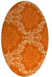 rug #599117 | oval red-orange damask rug